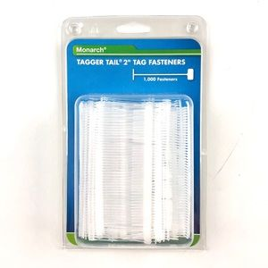 "Monarch tagger tail 2"" tag fasteners, pack of 1000"